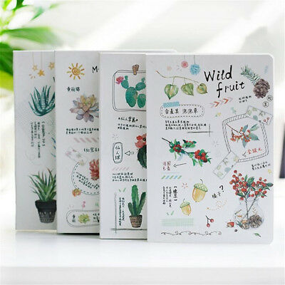 AU ''Green Plants'' Planner Diary Journal Grid Blank Lined Papers Study Notebook