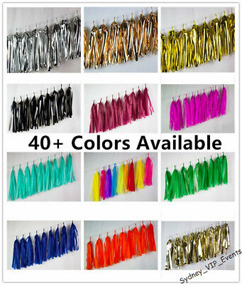 40+ Colours Tassel Garland 9Pk Rose Gold Pink Blue Party Banner Bunting Balloon