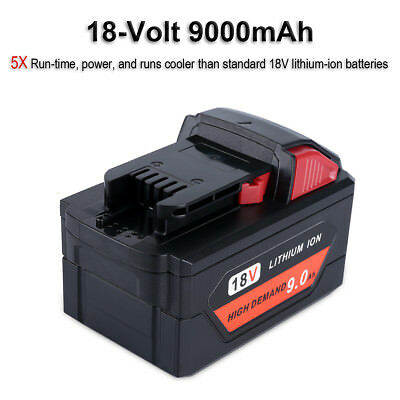 New 18V 9.0Ah Li-ion Rechargeable Battery for Milwaukee M18 M18B 48-11-1890