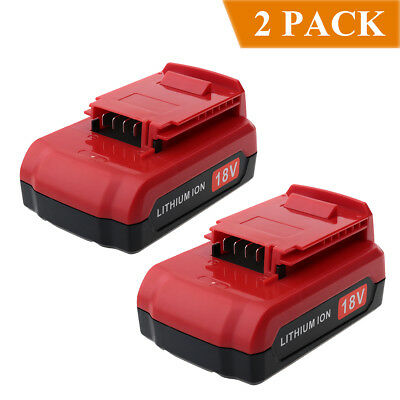 2-Pack for Porter Cable 18V PC18B PC18BL PC18BLX 18V 2000mAh Lithium ion Battery