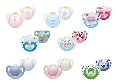 NUK Genius, Happy Days Soothers (Silicone/Latex) 2PK