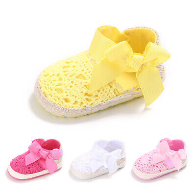 Baby Toddlers Hollow Material Pre Walker Shoes Infant Trainer Boys Girls Crib