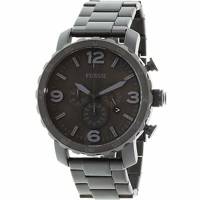 Fossil Men's Nate JR1401 Black Stainless-Steel Quartz Fashion Watch