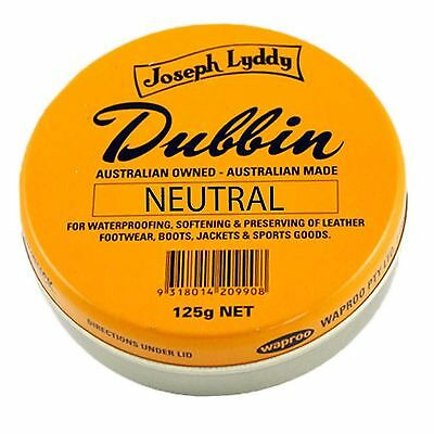 Joseph Lyddy Dubbin 125g Leather Boot Polish Protector Waterproofer Black Brown