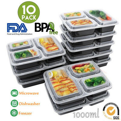 1020X MEAL PREP Plastic Food Storage Containers Freezer