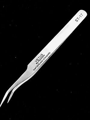 VETUS ST17 Curved Precision Fine Tweezers Eyelash Extension Stainless Steel