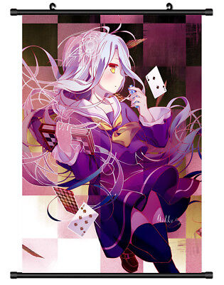 B4984 Shiro No Game No Life anime manga Wall scroll Stoffposter 25x35cm