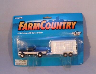 ERTL Farm Country 4x4 Pickup with Horse Trailer Die-cast 1995 #4564