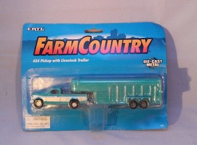 ERTL Farm Country 4x4 Pickup with Livestock Trailer Die-cast 1995 #311