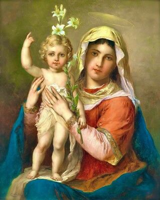 The Virgin Mary Madonna with Child Christ Giclee Canvas Print