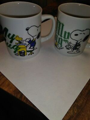 Lot of 2 Vintage Peanuts Charlie Brown & Snoopy The DuPont Collection Mugs