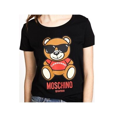 MOSCHINO SWIM T-SHIRT black with logo Teddy toy bear 1913 -  130.77 ... ba8c38b71cd