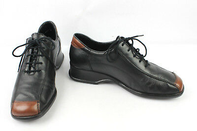 Derby Shoes Rieker Stress Reliever - Hen Party Black Leather and Brown T 40 Very