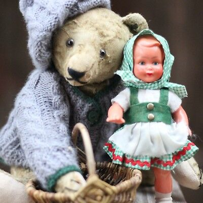 ANTIK STEIFF TEDDY BÄR m KNOPF LANGEN F ANTIQUE STEIFF TEDDY ANTIQUE STEIFF TEDY