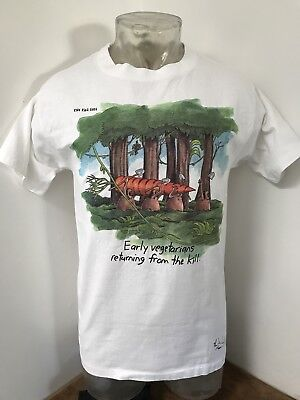 80s The Far Side Santa Christmas T-Shirt size LARGE ~ 26473 n5Ty7