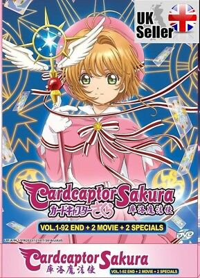 Cardcaptor Sakura Complete ENGLISH Series (Epi 1-92) + 2 Movies + 2 SP - UK POST