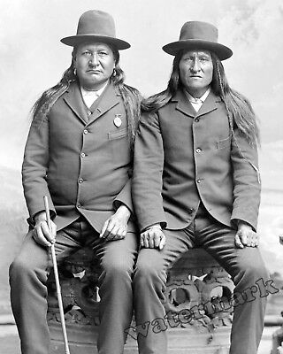 Photograph of American Indians Two Moons & Horse Year 1885 circa 8x10