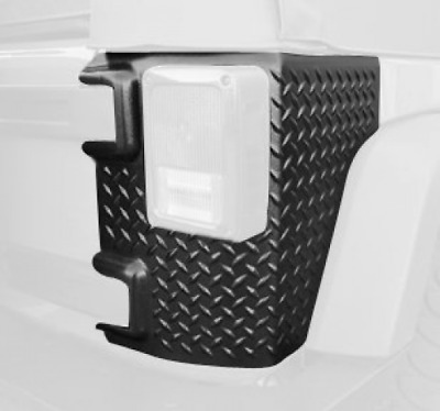 Rugged Ridge 11651.01 Black Diamond Plate Rear Tall Corner - Pair