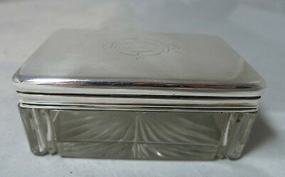 Victorian Silver & Glass Jar Frederic Purnell London 1874 A649117