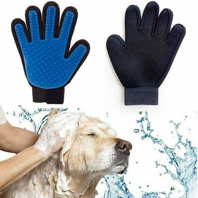 Pet Grooming Glove Deshedding Brush Fur Remover Mitt Dog Cat (Right/Left Hand)