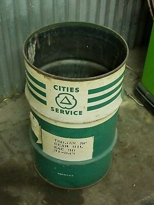 Cities Service Metal Trash Can-Collectible, Vintage? Antique?