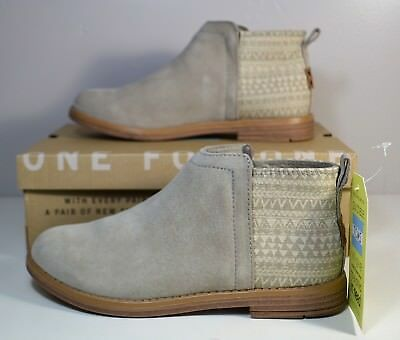 ce5abb9e1603 Nib Girls Toms Deia Desert Taupe Suede Mut Hut Booties Boots Shoes 13C-4Y
