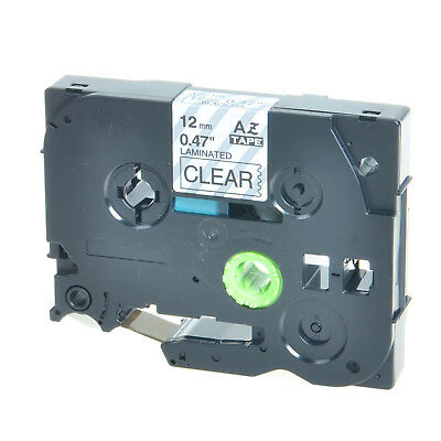 Black on Clear TZe-131 TZ-131 Label Tape For Brother P-touch PT-D600 H100 1750