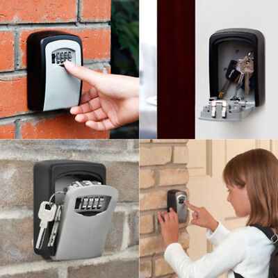 4 Digit Wall Mount Password Combination Key Home Security Storage Box Lock Case