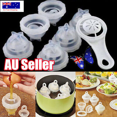Egglettes Egg Cooker Hard Boiled Eggs without the Shell 6 Pcs Cups As Seen On TV