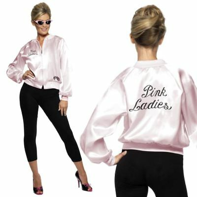 Ladies OFFICIAL Grease Pink Lady Ladies Fancy Dress Costume Hen 1950's Lot