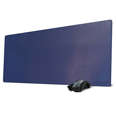 Office Desk Blotter Protective Mat PU Leather Mouse Pad 900 *400 mm (Blue)