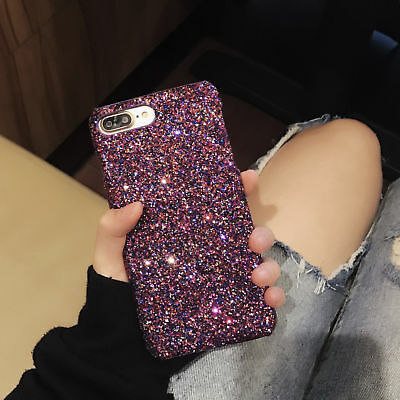 Sparkle Bling Glitter Thin Shockproof Hard Cover Case For iPhone Xs Max 8 6 Plus