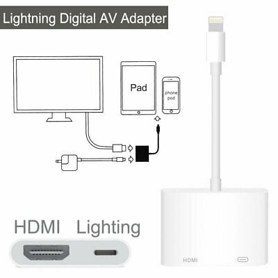 Lightning to HDMI Digital AV Adapter Cable For iPhone X 8 7 6 iPad Air Pro 2018