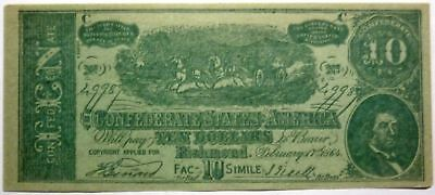 ECONOMY CLOTHING ELGIN IL. advertising on faux confederate currency PHONE 603 !!
