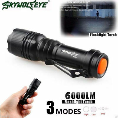 6000LM Q5 AA/14500 3Mode ZOOM LED Super Bright Flashlight MINI Police Torch