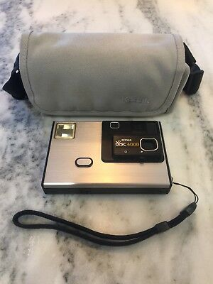 VINTAGE 1980s KODAK DISC 4000 CAMERA W/ STRAP & Carrying Case ~ Rare Camera