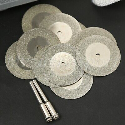 10pc 35mm Mini Sharp Diamond Cutting Disc Rotary Tool Arbor Power Drill Tool