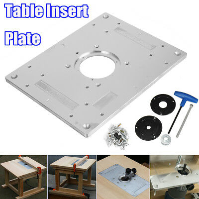 Craftsman router table top only 29lcn 1223 for model 171 264630 aluminum plunge router table insert plate w ring for diy woodworking work bench keyboard keysfo Images