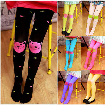 Cute Baby Kid Girls Velvet Cotton Tights Socks Stockings Pants Hosiery Pantyhose
