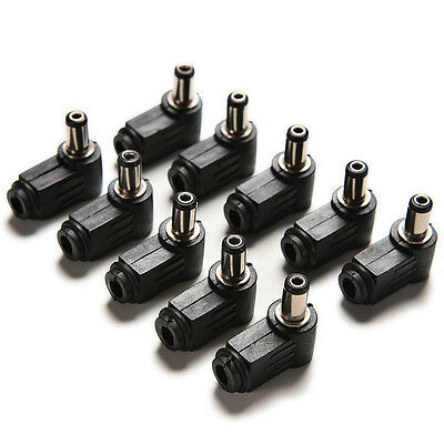 10pcs Right Angle 2.1 x 5.5 mm 2.1 mm DC Power mâle connecteur de soudure