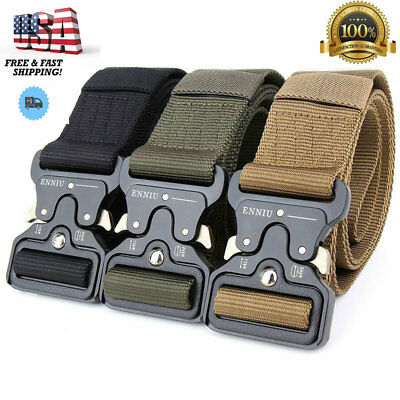 Tactical Belts Military Web Nylon Survival Belts Mens Army Combat Gear US