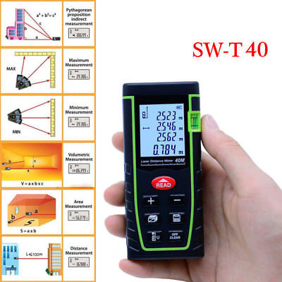 New 40M Digital LCD Laser Distance Meter Range Finder Test Diastimeter Tool