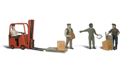 Woodland Scenics A2192 Workers With Forklift Figures Set (Pk8) N Gauge