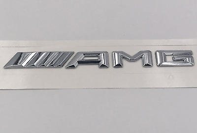 Mercedes Benz Car AMG badge Trunk Rear Sticker Emblem Front A class Boot Silver
