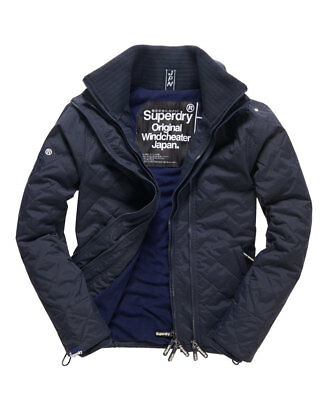 Mens Superdry Quilted Arctic SD-Windcheater Jacket French Navy