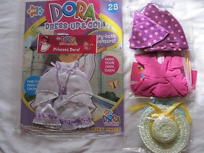 "Bnip - ""dora Dress Up And Go Magazine"" No. 28 'princess' + 2 Extra Outfits"