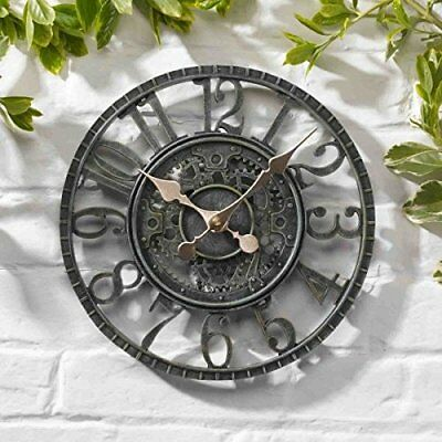 Outside-In Newby Verdigris 12in Mechanical Wall Clock 5065011