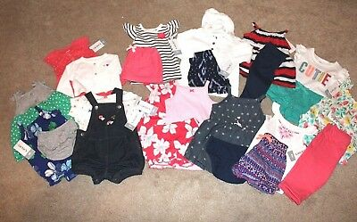 NWT CARTERS BABY GIRL SPRING SUMMER SETS 11 OUTFIT (24 pcs) LOT NB 3 6 MTHS $270