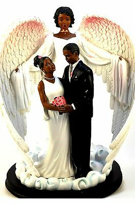 Wedding Guardian Angel Statue: African American (16225) NEW