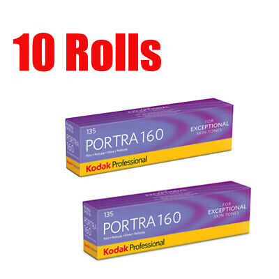 10 Rolls Kodak Portra160 35mm 135-36 Professional Print Film Fresh 07/2021